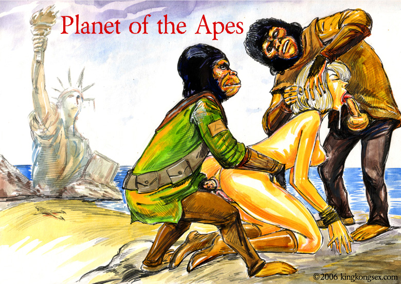 ape and brown guardian ape Cairngorm land of the lustrous